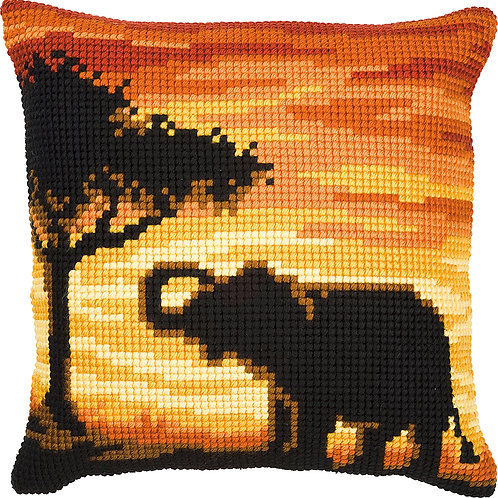 VERVACO Cross Stitch Cushion Kit Elephant - PN-0008643