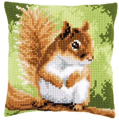VERVACO Cross Stitch Cushion Kit Squirrel - PN-0157491