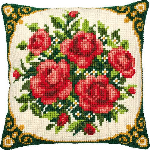 VERVACO Cross Stitch Cushion Kit Flowers - PN-0008577