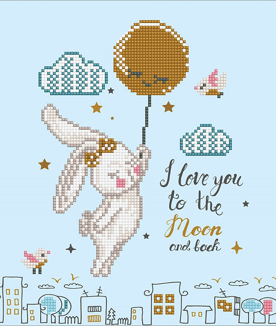 Diamond Dotz Art Kit Box - Love You to the Moon and Back (DD5.058)