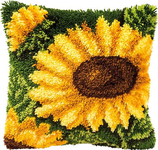 VERVACO Latch Hook Cushion Kit Sunflowers - PN-0014176