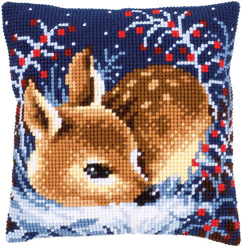 VERVACO Cross Stitch Cushion Kit Little Deer - PN-0158266