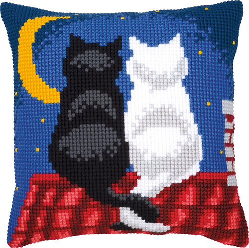 VERVACO Cross Stitch Cushion Kit Cats in the Night - PN-0008598