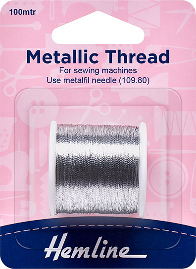 Hemline Metallic Thread (Silver) 242