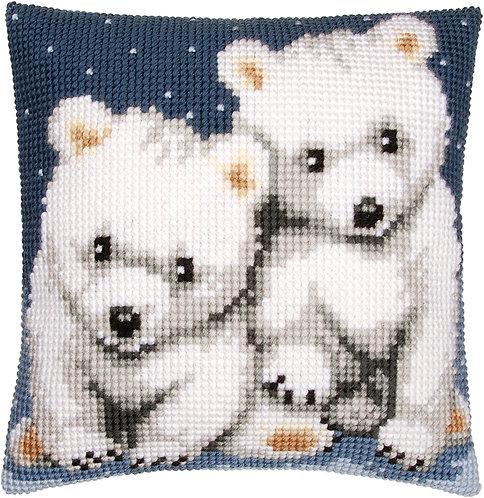 VERVACO Cross Stitch Cushion Kit Polar Bears - PN-0156484