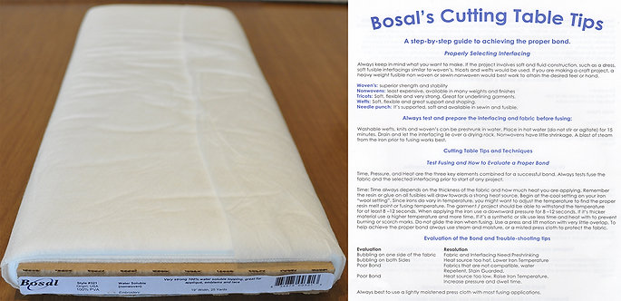 Bosal Water Soluble Non-Woven Fabric (321)
