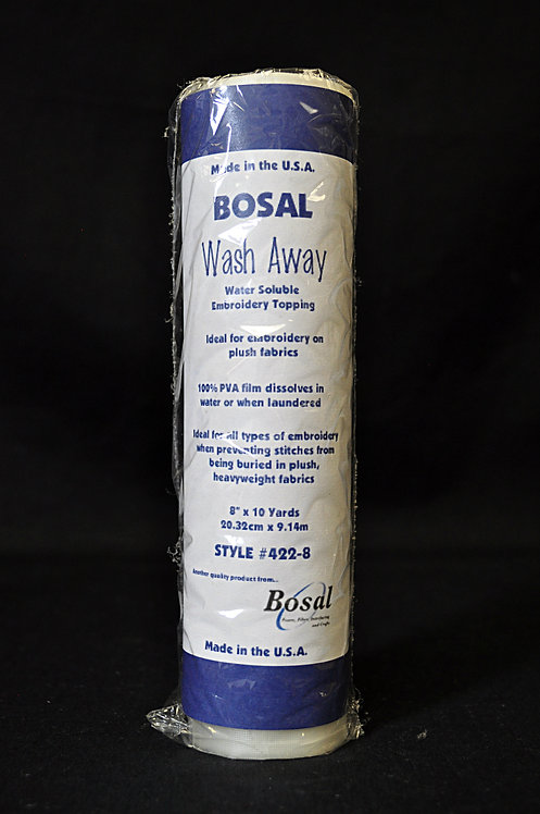 Bosal Wash Away Water Soluble Embroidery Topping 422-8