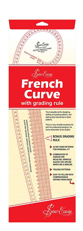 SewEasy French Curve With Grading Rule NL4199