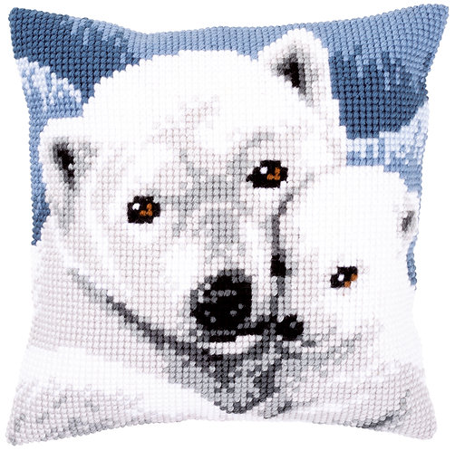 VERVACO Cross Stitch Cushion Kit Polar Bear - PN-0157960