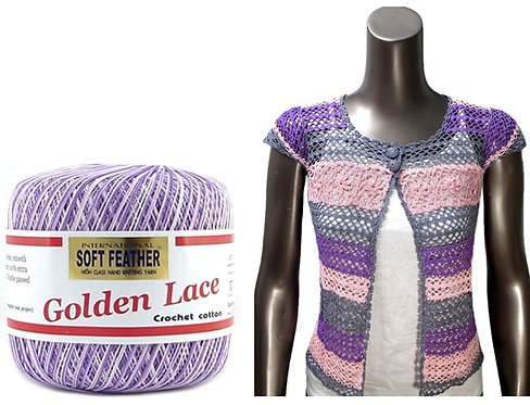 Soft Feather Golden Lace S241C