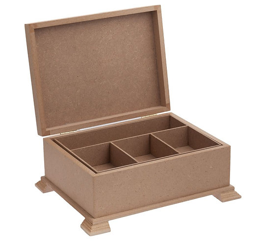 Wooden Jewelry Box with Tray 513