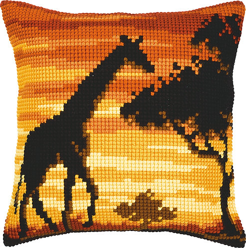 VERVACO Cross Stitch Cushion Kit Giraffe - PN-0008642