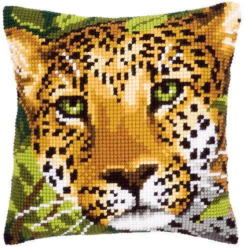 VERVACO Cross Stitch Cushion Kit Leopard - PN-0144823