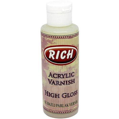 Rich High Gloss Water Varnish - 130CC
