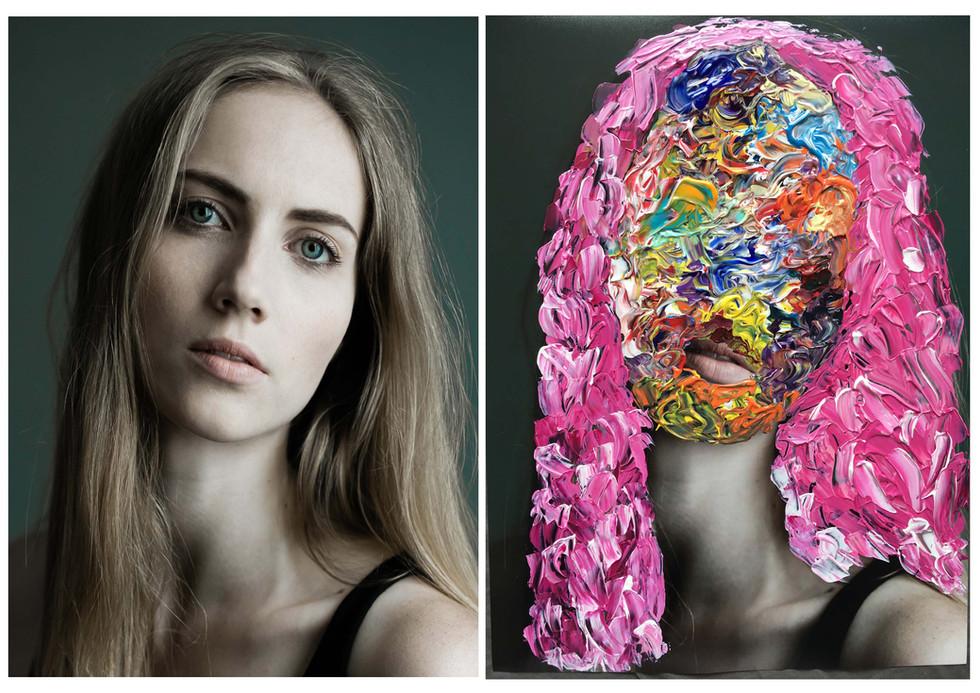 """Three face 2"" 30x40 2017"