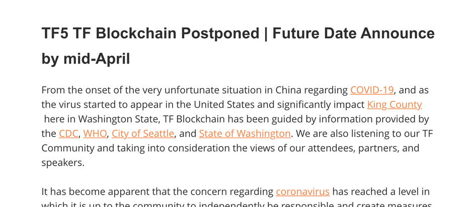 TF5 TF Blockchain Postponed | Future Date Announce by mid-April