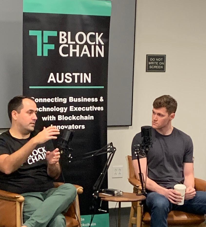 David Kemmerer and Jonathan G. Blanco at TF Blockchain Austin