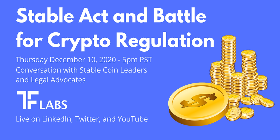 LIVE: Stable Act and Battle for Crypto Regulation