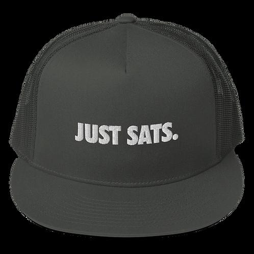 JUST SATS. - Mesh Back Snapback