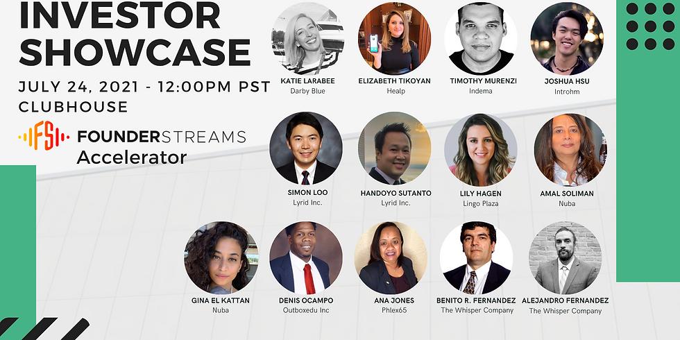 FounderStreams Accelerator | Investor Showcase