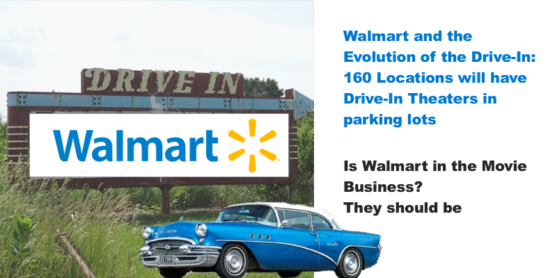 Is Walmart in the Movie Business? They should be! Walmart adds Drive-In Theaters to 160 locations