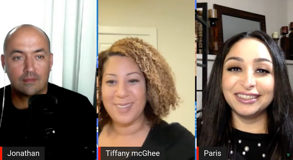 Anybody's Game interview featuring Tiffany McGhee, hosted by Paris Mansouri and Jonathan G. Blanco.