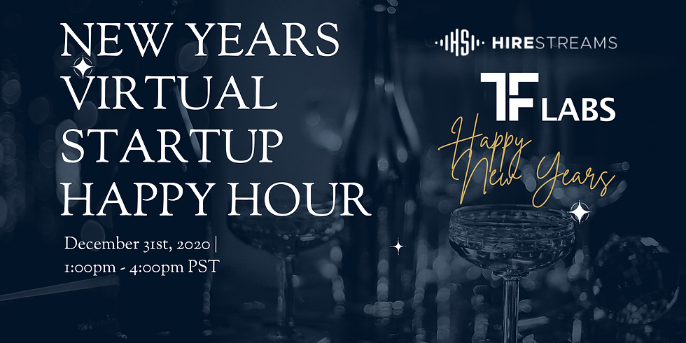 New Years Eve Virtual Startup Happy Hour