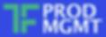 TF Product Logo - Blue Background White
