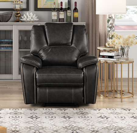 """Manual Recliner Air Leatherette Living Room Sofa Set. Available as Sofa Love Set also Recliner  Loveseat Size: 62"""" x 36"""" x 39"""" H Sofa Size: 83.5"""" x 36"""" x 39"""" H"""