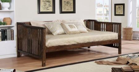 """Dark Walnut Finish Slatted Wood Panels, Slat kit means it's mattress ready.    Size: 83 3/4"""" x 43 1/2"""" x 42 1/2"""""""
