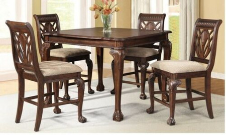 """Cherry Finish Pub Table available with 4 chairs or 6 Chairs  Table Size: 54"""" x 54"""" x 36""""  Pub Chair Size: 22"""" x 25"""" x 43"""""""