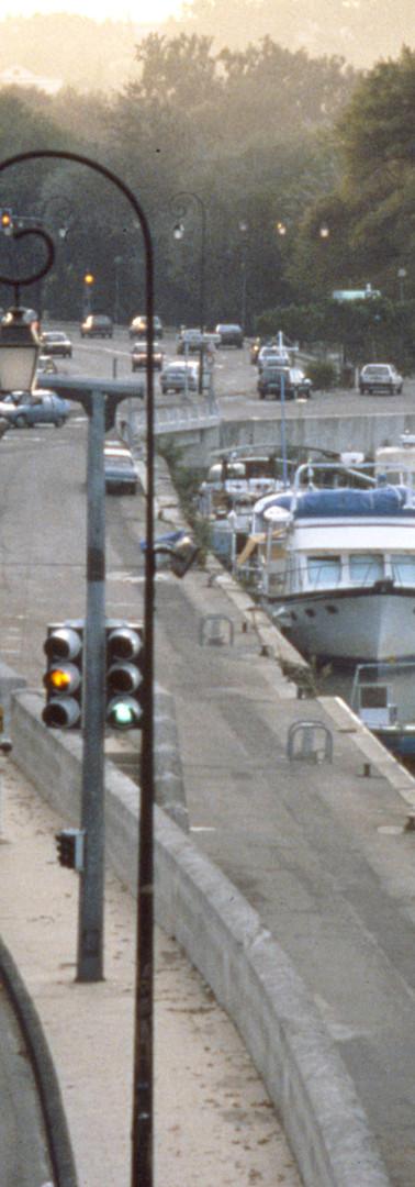 Le boulevard de la Ligne à la hauteur du port de plaisance