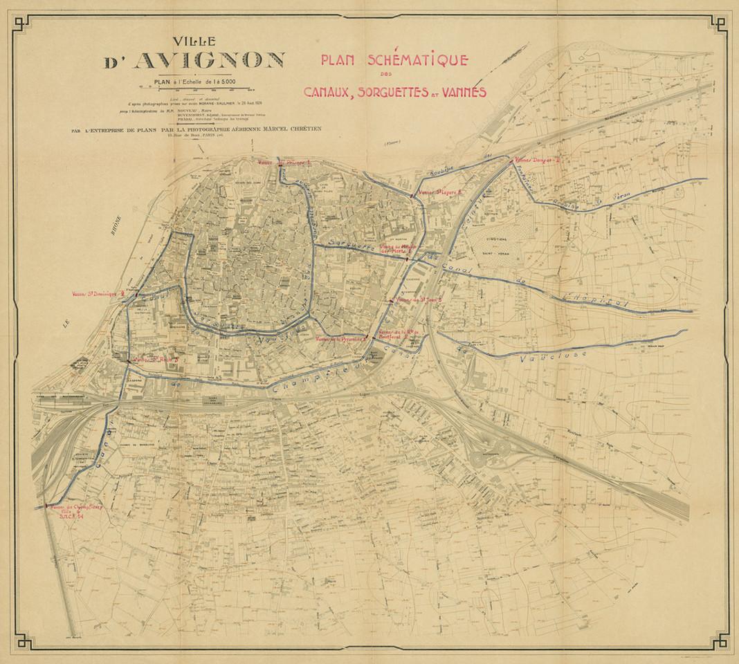 1926 – Plan dit Marcel Chrétien. Carneaux, sorguettes et vannes