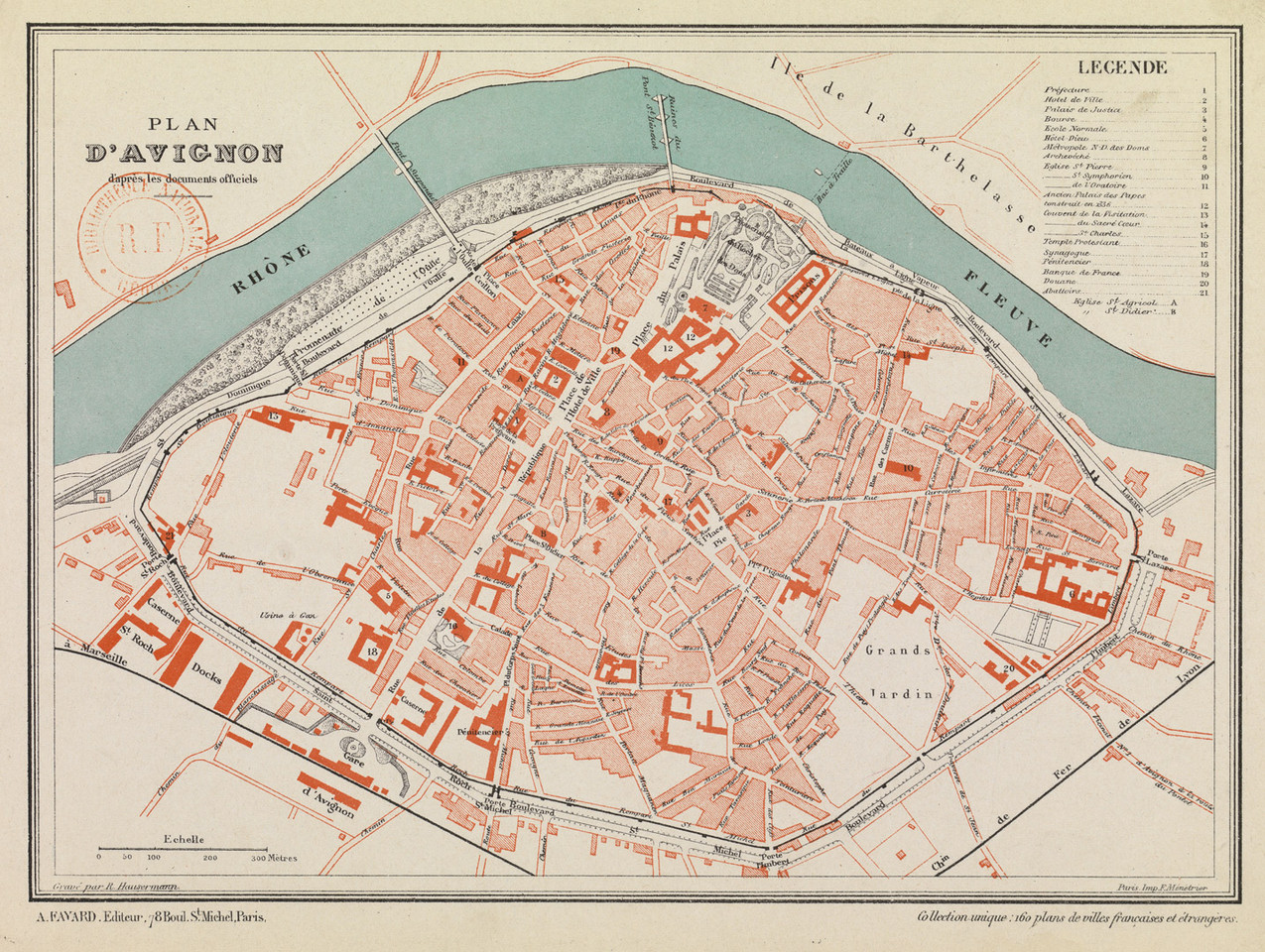 1875 – Avignon atlas de la France illustrée
