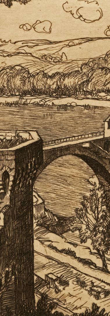 Le châtelet, la tour des chiens et le pont Saint-Bénezet depuis le Rocher des Doms