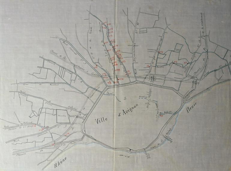 1884 – Recensement des lavoirs particuliers d'Avignon en vue de leur supression