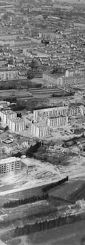 Quartiers de Chamfleury et Monclar et construction des barres de 17 étages de Champfleury.
