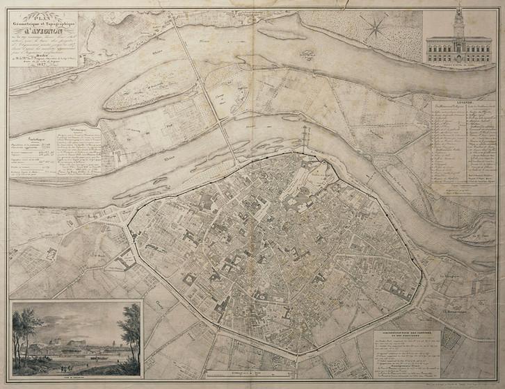 1837 – Plan géométrique et topographique