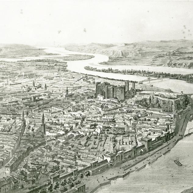 Vue en ballon d'Avignon