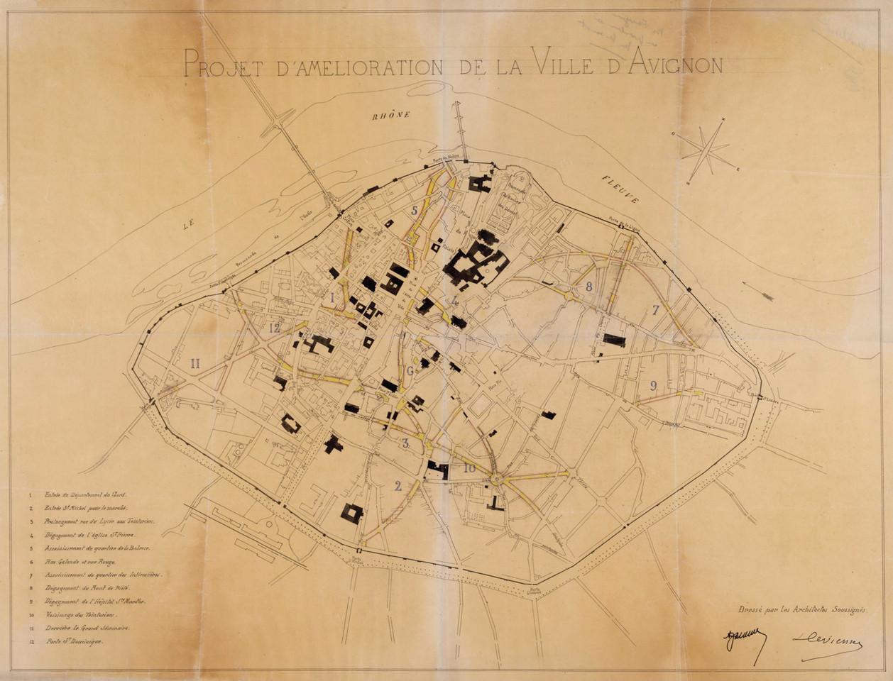 1890 – Plan de l'amélioration de l'intra-muros