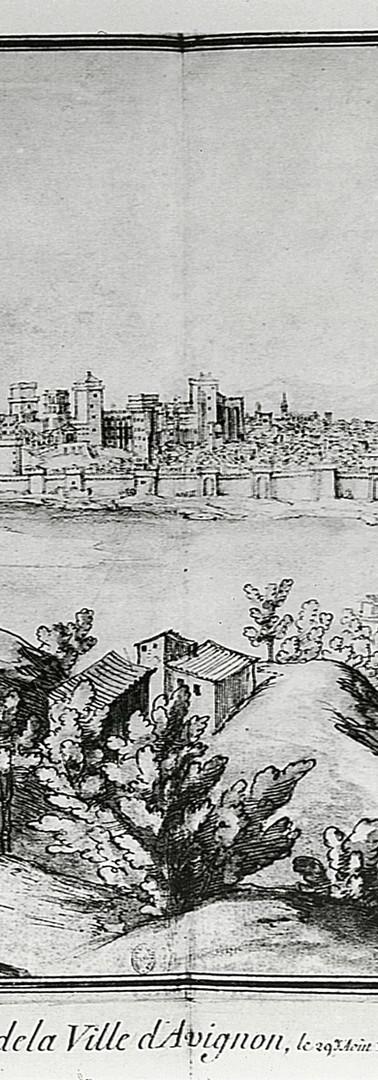 Vue générale d'Avignon depuis Villeneuve-lès-Avignon
