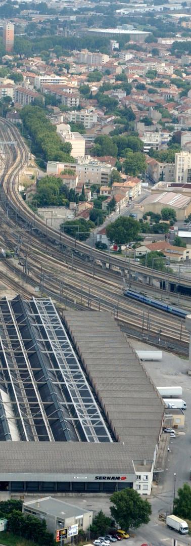 Vue aérienne d'Avignon en direction de l'est