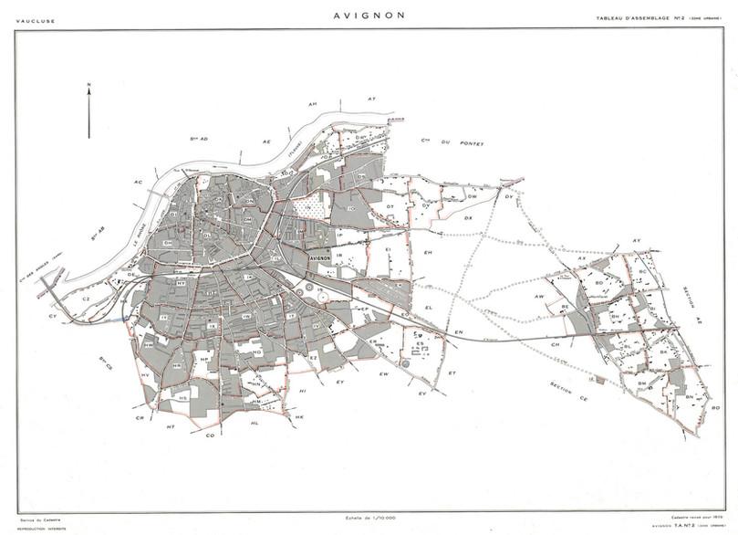1970 – Plan cadastral dit Rénové. Tableau d'assemblage