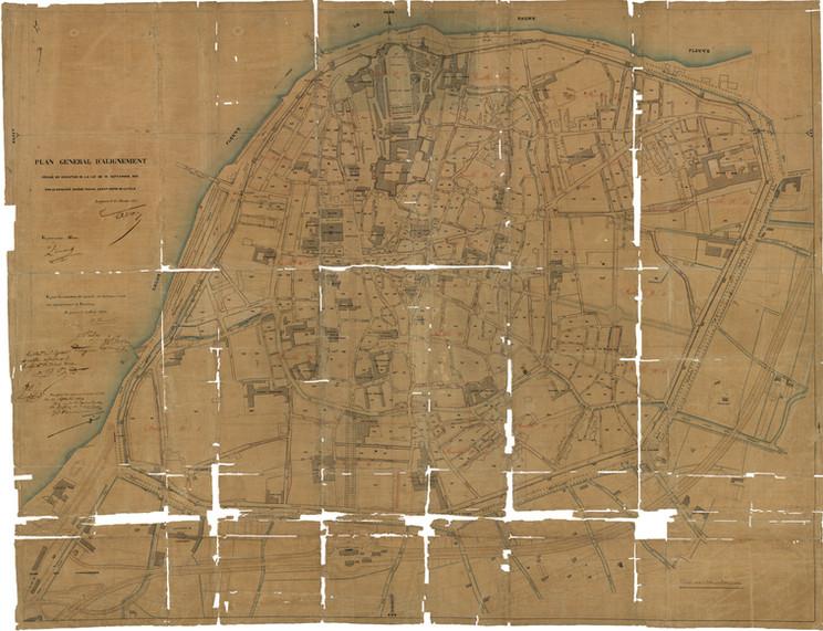 1854 – Plan général d'alignement