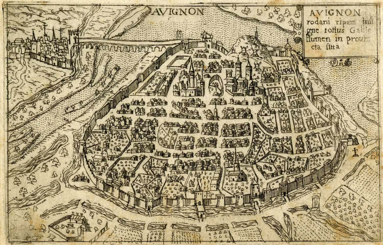 1598 – Plan d'Avignon