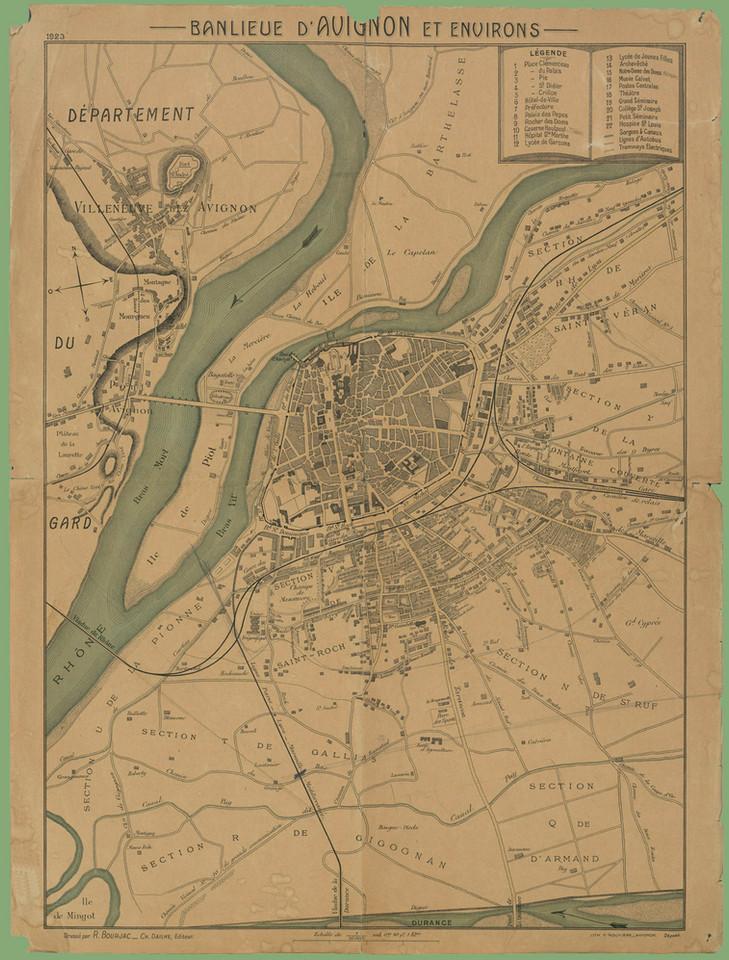 1923 – Avignon et sa banlieue