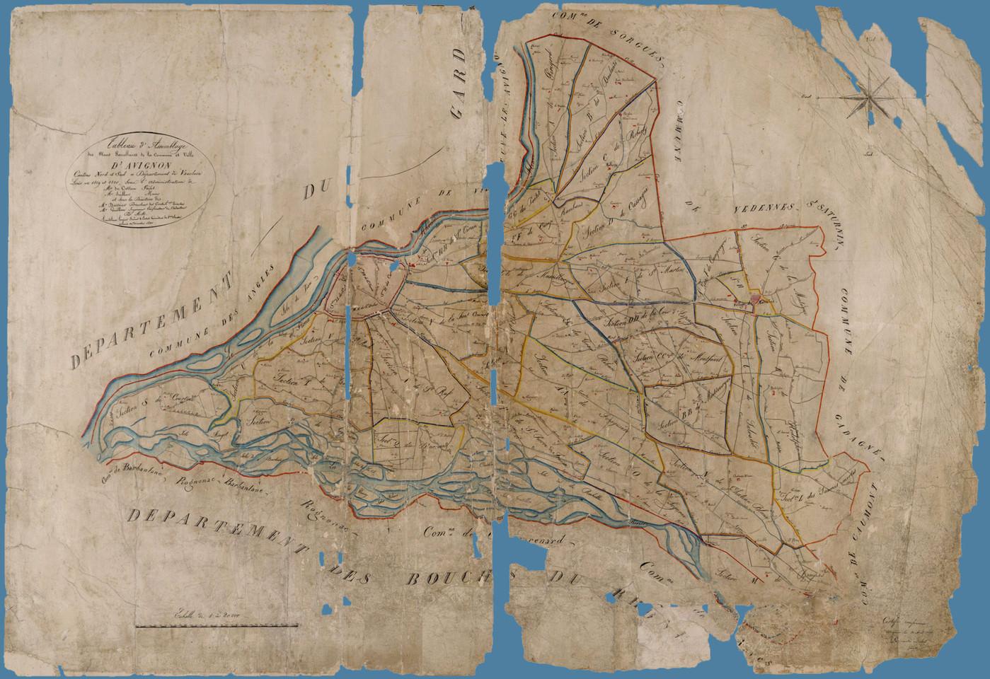 1820 – Plan cadastral dit napoléonien