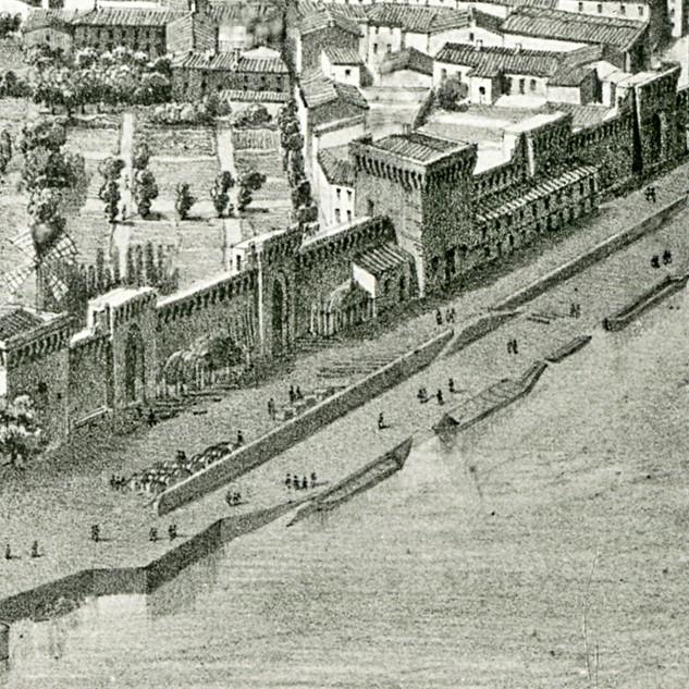 Détail de vue en ballon d'Avignon