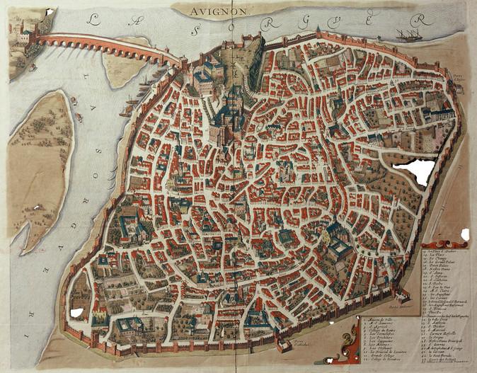 1600 – 1650 – Plan anonyme de la ville d'Avignon