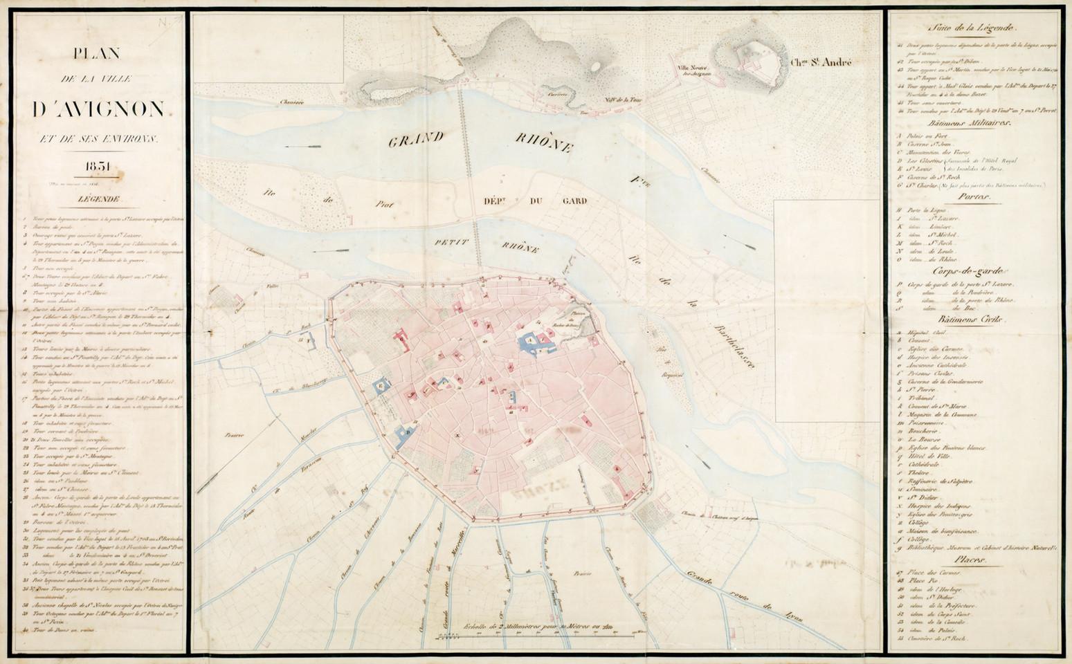 1831 – Plan militaire de la ville et de ses environs
